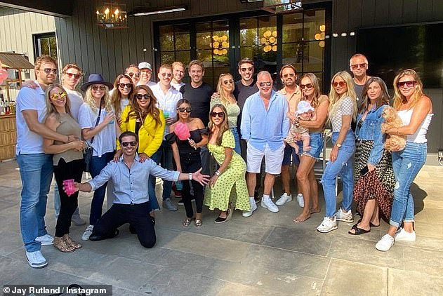 Celebrations: Petra and Sam recently enjoyed an extravagant party with friends and family, including Petra's sister Tamara and husband Jay Rutland, to mark Sam's 38th birthday