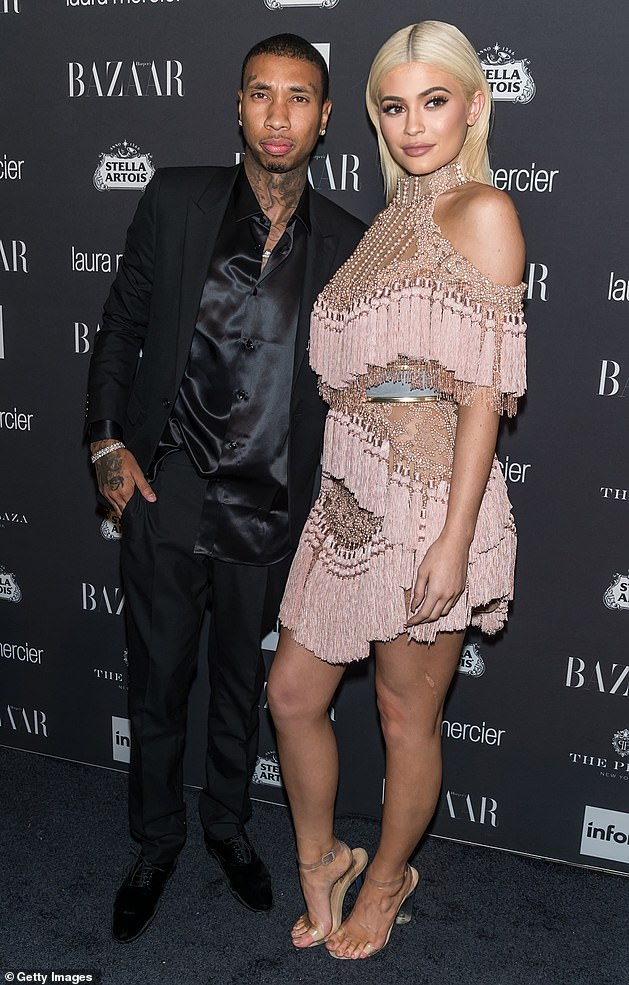 Exes: Prior to his new romance, Tyga famously had a high-profile relationship with Kylie Jenner but they split in 2017 (pictured in 2016)