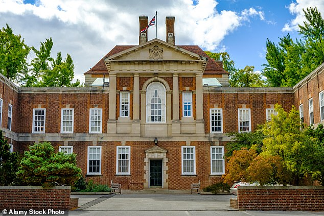 However, it has been claimed the proposed revamp was abandoned in April after a furious row emerged over the makeover of Boris Johnson's Downing Street flat. Pictured:British Embassy Residence in Washington DC