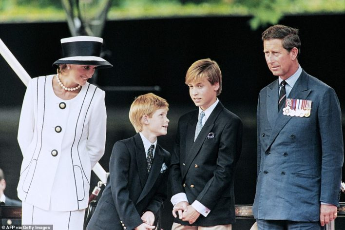 Harry, referring to the racism he believed Meghan experienced in the UK, also suggested his mother, Diana, Princess of Wales, (pictured in 1995) had been hounded to death because she was dating ¿someone that wasn¿t white¿ ¿ Dodi Fayed