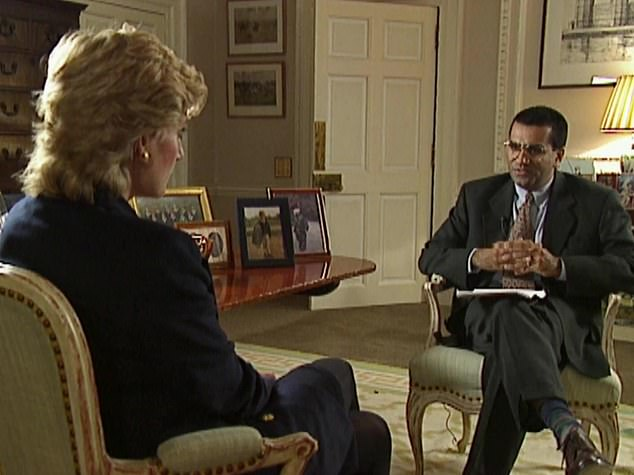The former governor of Alaska waded into the controversy Friday, claiming the ex-BBC journalist 'has been caught so many times' engaging in rogue tactics. Pictured Bashir and Diana in the 1995 interview