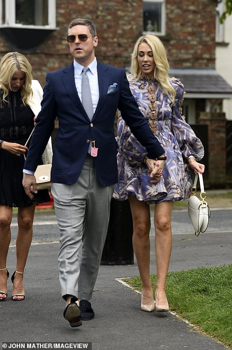 Here come the boys! While female racegoers drew the most attention upon their arrival, a contingent of suited and booted men made sure they weren't outshone completely