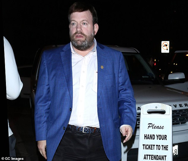 Former employees of the influential Republican pollster and strategist Frank Luntz say that his methods a 'scam'. Pictured: Luntz is spotted in Los Angeles in February 2020