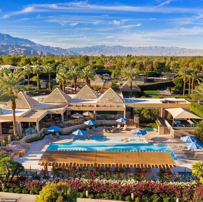 He was understood to have been based at The Vintage Club (above) in Indian Wells, California, for the last three months