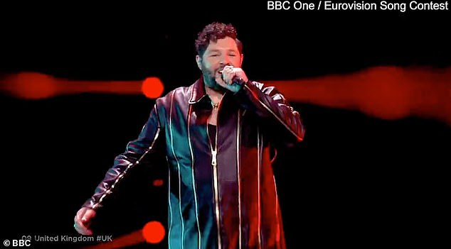 Oh dear: The UK's Eurovision 2021 hopeful was James Newman, a 35-year-old BRIT award winner, however he didn't score a single point during the night