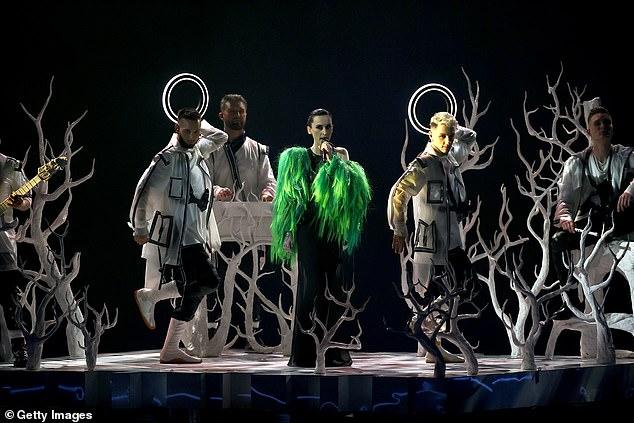 Ukraine's strange hypnotic folk song also garnered the attention of some viewers