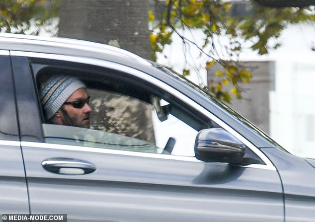 Drive through: He had earlier arrived at the hospital by car