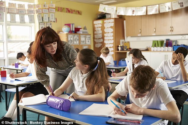 Ministers eased restrictions in schools on May 17 to allow children not to wear face masks in classrooms. Pictured: Stock image