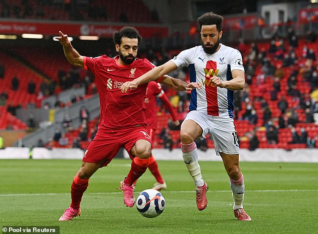 Crystal Palace winger Andros Townsend (right) will also give his thoughts for ITV this summer
