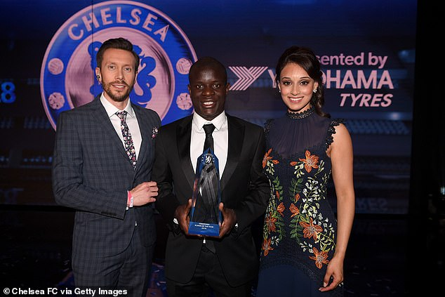 Seema Jaswal (right) and Sam Matterface (left), pictured at a Chelsea awards night in 2018, are two of ITV's biggest names during their Euro 2020 coverage