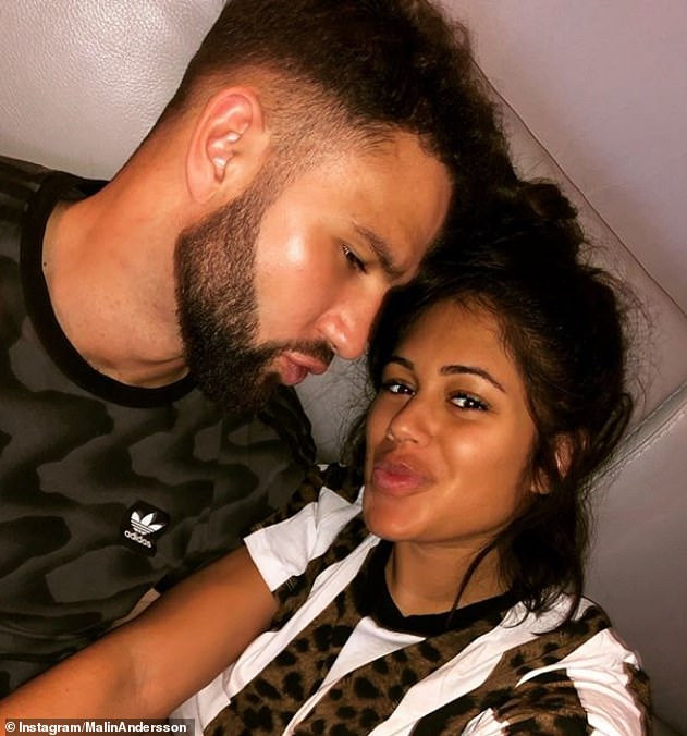 Abuse: It comes after her former partner Tom Kemp, 28, was jailed for 10 months for an assault that left her 'black and blue' [pictured together in February 2019]
