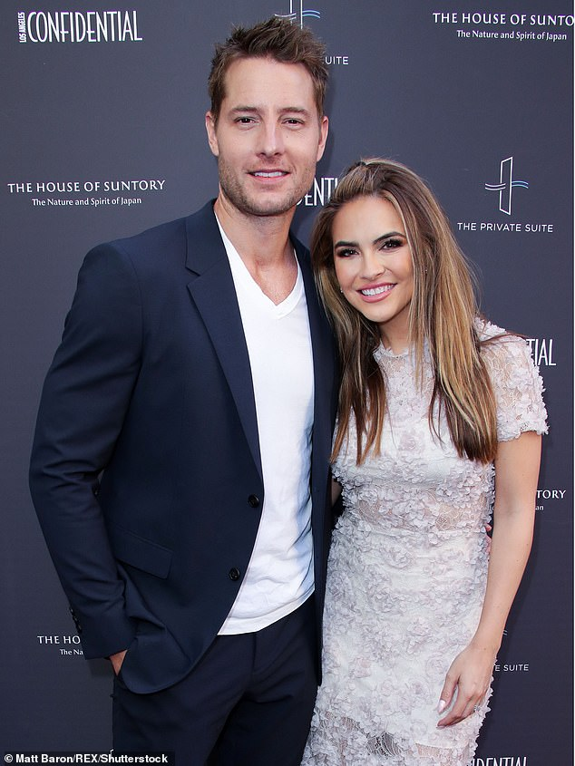 The This Is Us star split from wife Chrishell Stause in November 2019 and the divorce was finalized in January. They are seen here in June 2019