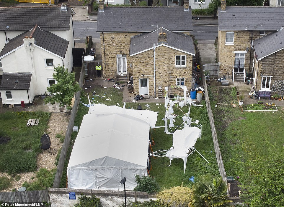 The party ran all day from Saturday into Sunday and a marquee and several smaller gazebos were put up in the rear of the property. It is not yet known if the gunman opened fire on the front or back garden