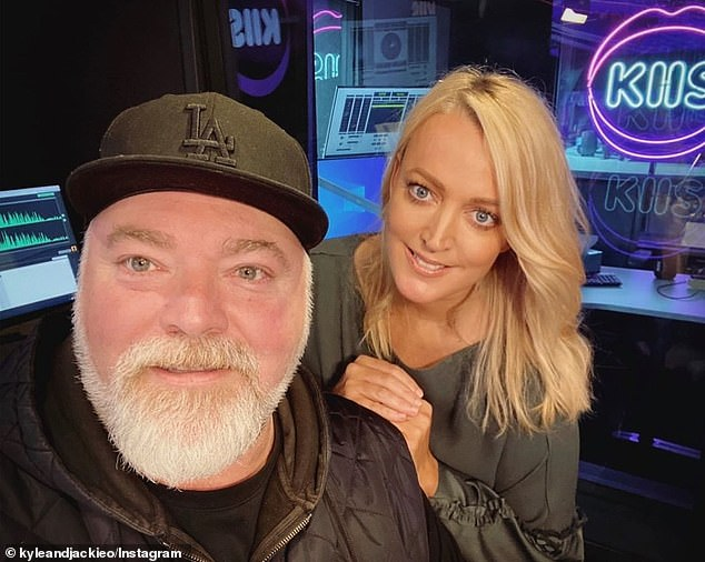Rant: 'One day, we're just going to not be there…. They don't even know what we do on a daily basis anyway,' Sandilands said of ARN management. 'We make them hundreds of millions of dollars and they barely even recognise our existence,' he added. Pictured with Jackie O