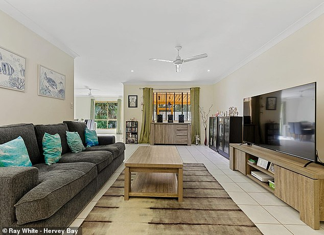 Spacious: The property also has a large open plan living and dining space