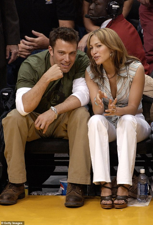 In the past: Ben and Jen first started dating in 2002 after meeting on set of Gigli. They soon became engaged and were set to get married in September 2003, but postponed their wedding and eventually broke up in January 2004; seen in 2003