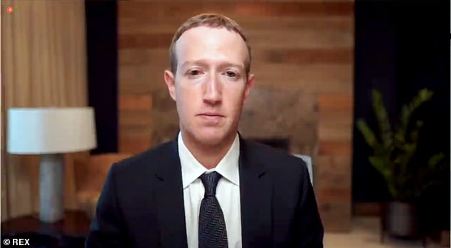 Facebook CEO Mark Zuckerberg (pictured on March 25) has come under pressure to crack down on vaccine-related misinformation on his platform