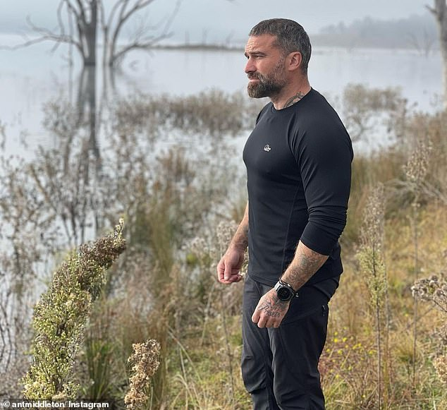 On home soil: Middleton has settled back into domestic life following a trip to Sydney for the Australian version of SAS: Who Dares Wins
