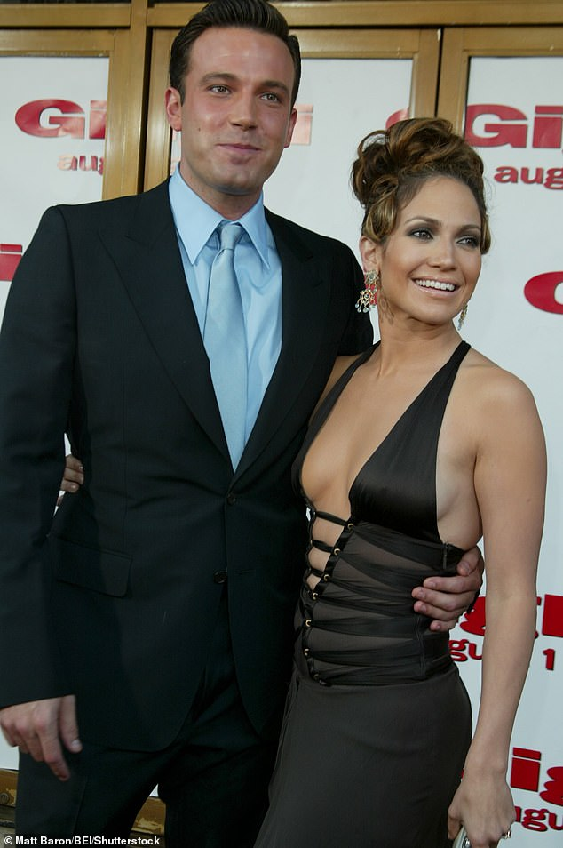 Bennifer is back:The actress, 51, and actor, 48, split in 2004, however they have grown close again in recent weeks after enjoying a trip to Montana and LA (pictured together in 2003)