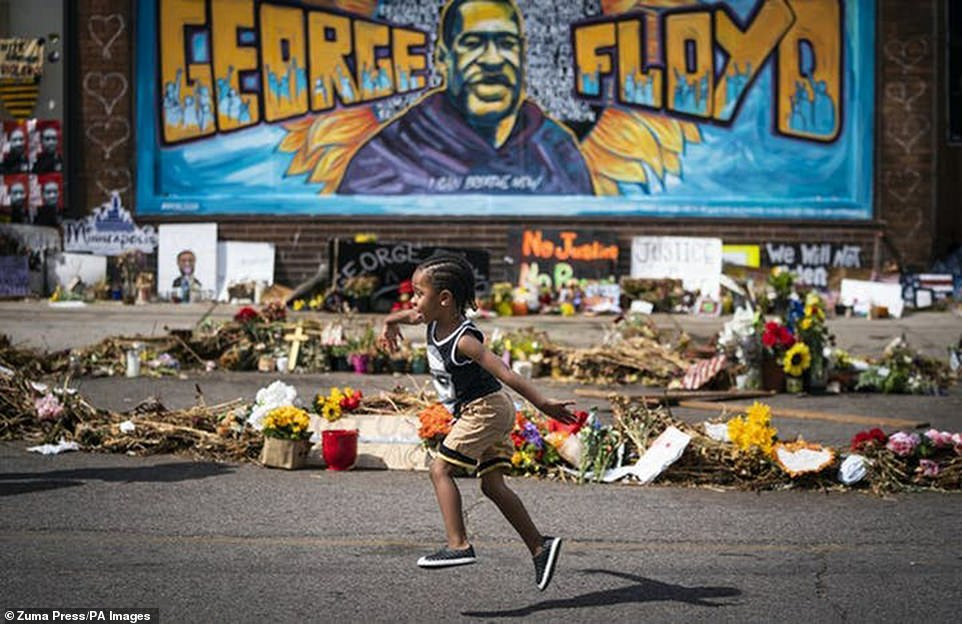 The intersection has been barricaded since soon after George Floyd's death and quickly turned into a memorial - and also a challenging spot for the city, with police officers not always welcome