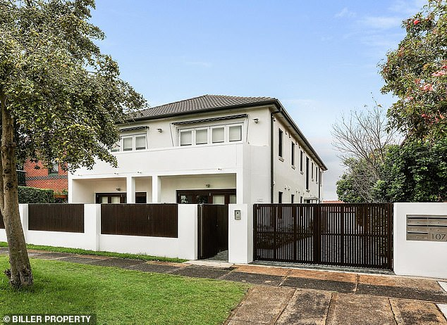 Making a profit:Cheryl and Brenton sold the apartment for $970,000 during the show's final auction and it has now hit the market with a price guide of just under $2million