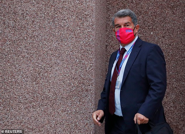 Barcelona, whose president isJoan Laporta (above), are being investigated like Real and Juve