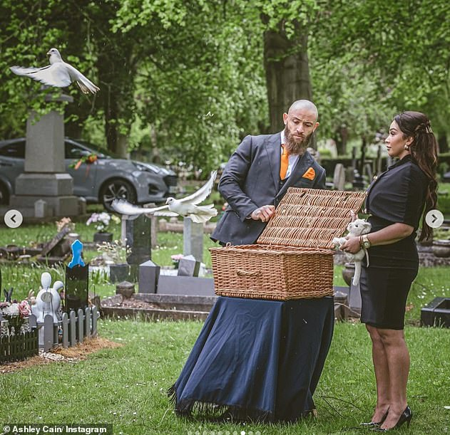 Heartbreaking:The couple buried their daughter on Friday last week after she tragically passed away last month