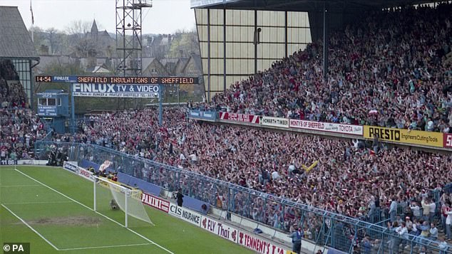 The West Terrace of Hillsborough stadium at 2.54pm, which was shown to members of the jury