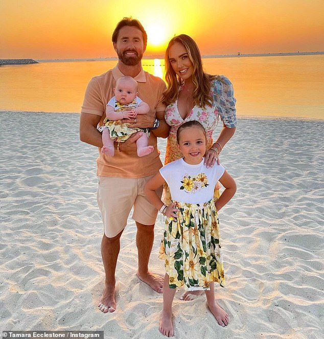 Family:Rutland- who has daughters Sophia, seven and eight-month-old Serena with Tamara - has been blasted by mental health campaigners for sharing a sarcastic poll with his followers