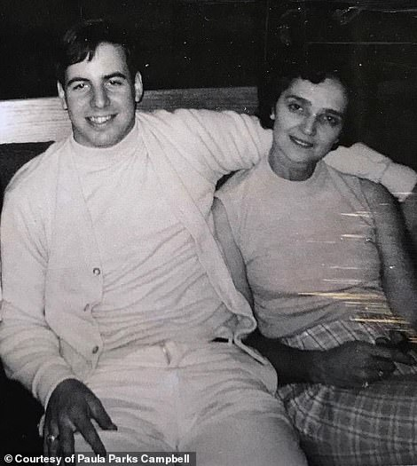 Abagnale with Charlotte 'Sparky' Parks in 1969