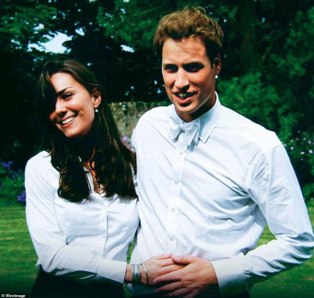 University sweethearts: Prince William and Kate Middleton on the day of their graduation ceremony in 2005