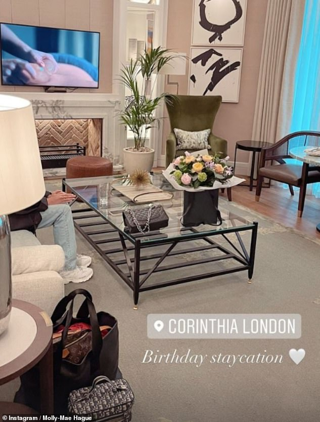 Luxurious!Molly-Mae headed into London with pal Maura to enjoy a stay at The Corinthia, where it appeared she'd booked the Garden Suite