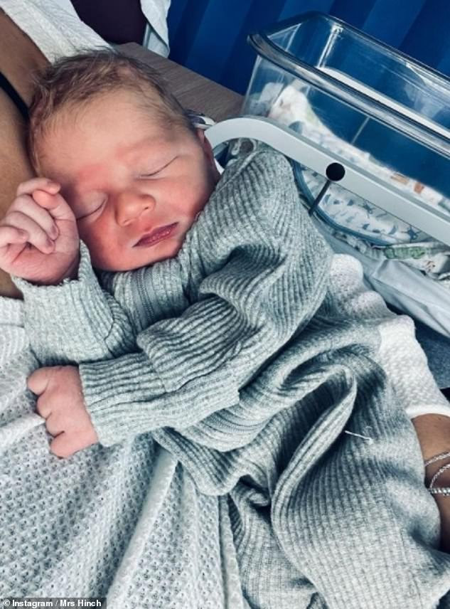 Taking to social media to answer questions about Lennie on Sunday - a day after giving birth - Mrs Hinch explained: 'Both me and Jamie loved the fact Lennie rhymes with Ronnie but also when shortened to Len rhymes with Hen. Alan, is my dad's name'