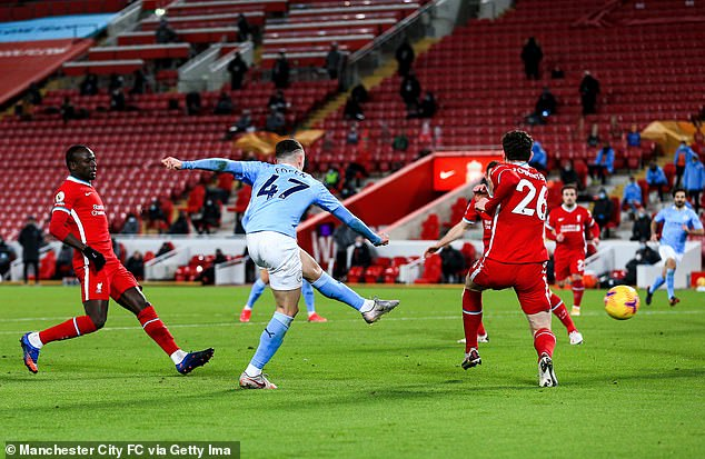 Phil Foden capped a man of the match display away at Liverpool with a stunning finish