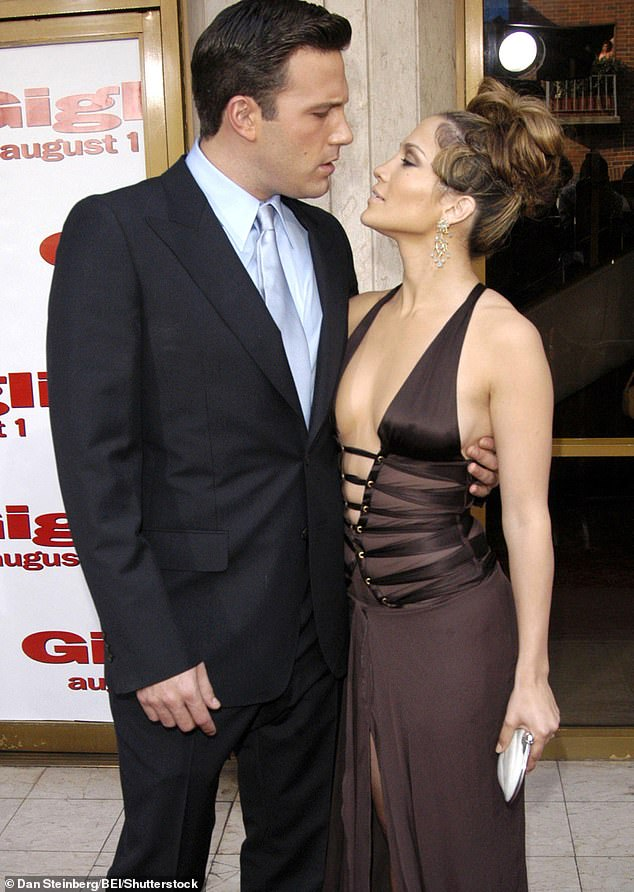Ben's friends approve of his relationship with Jennifer Lopez because she is teetoal. Pictured: The pair in 2003