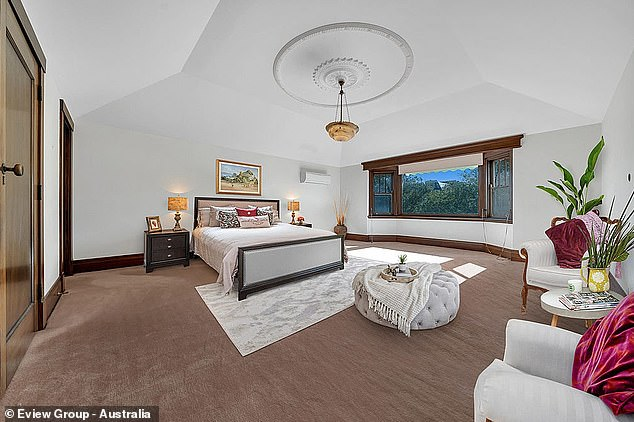 Spacious:The master bedroom has traditional high ceilings, a dressing room and a twin vanity ensuite