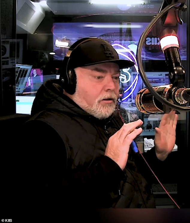 Ouch! The listener's primary complaint on Wednesday was with Pedro's claim local women wear fake designer bags and the only real ones are bought 'using their boyfriends' drug money'. Pictured: radio host Kyle Sandilands