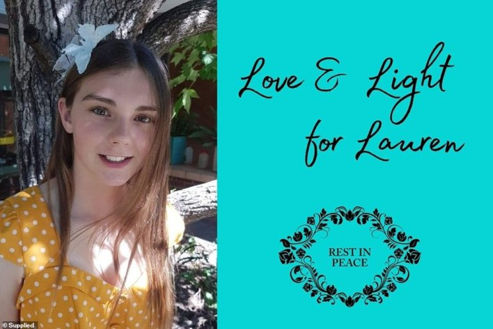 Lauren Rafferty (pictured) tragically died on Mother's Day after struggling with her mental health for the past two years in the NSW Riverina town of Wagga Wagga