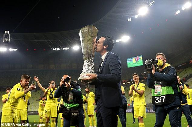 Villarreal boss Unai Emery won an unprecedented fourth Europa League on Wednesday night