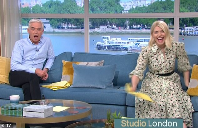 Hilarious:Josie left presenters Holly Willoughby and Phillip Schofield in hysterics in the studio