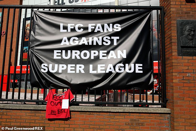 Fans across England - including those of Big Six clubs - united in protest over the Super League