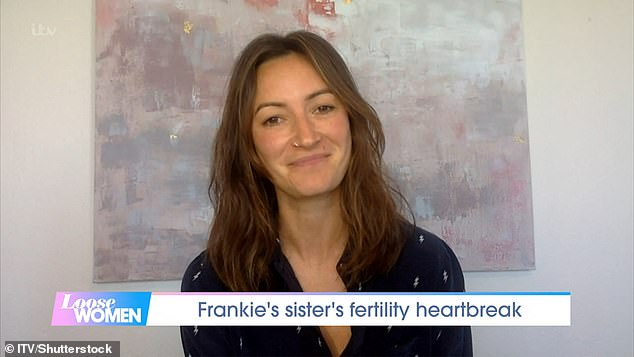 Tough road:Frankie Bridge's sister Victoria 'Tor' Cook has opened up on her heartbreaking fertility battle after previously suffering with four miscarriages