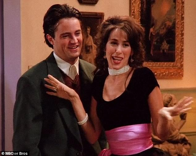 Can't be beat: The cast set up a perfect entrance moment when they joked about how Lisa Kudrow had the loudest laugh on set, though no one could upstage Maggie's Janice; still from Friends