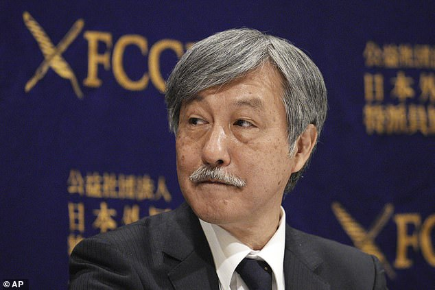 The Japan Doctors Union and chairman Dr Naoto Ueyama (pictured) have called for the games this year to be cancelled, fearing they could cause a new strain of the virus