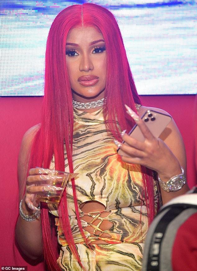 Down time:Cardi B sighted at Red Martini Nightclub in 2020 in Atlanta, Georgia