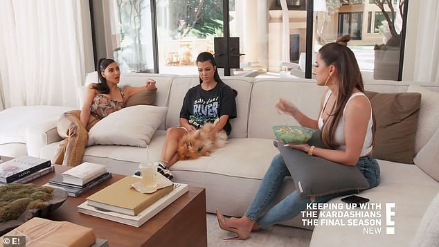 Lavish presents:'Can I just give my gift first?' Khloé asked Kim as she planned. 'I hate when you guys give these cars, and then I'm like, ''Oh here's my card''