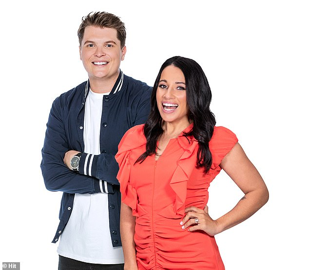 New look show: It was announced on Friday that Maz Compton, 41, who had been filling in for Ash while on maternity leave, will be her permanent replacement. Maz will co-host alongside Daniel 'Gawndy' Gawned (both pictured), with the show now called Gawndy & Maz