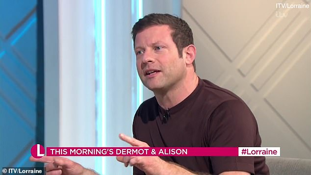 Ironing out: Speaking openly about adjusting to presenting together, Dermot admitted they barely had any time to get used to each other's nuances