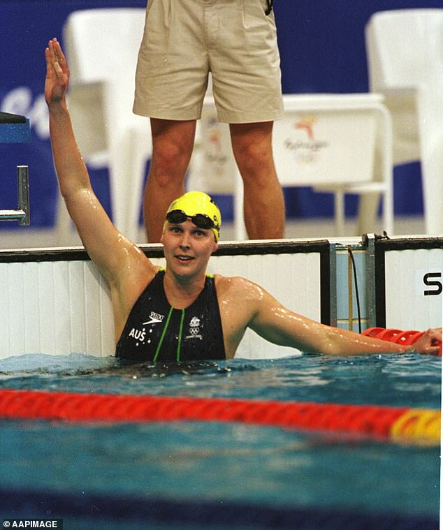 High hopes: On September 20, 2000 (pictured), the then 27-year-old was expected to easily win gold in the 200m butterfly final, but it didn't go to script