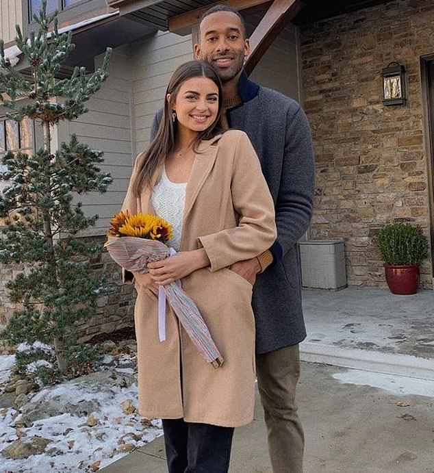 Happy couple: The two met during the 25th season of The Bachelor, where the real estate broker led the cast